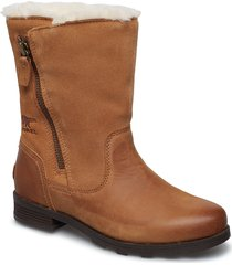 emelie foldover shoes boots ankle boots ankle boots flat heel brun sorel