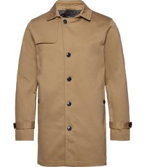 slhtimeless coat b dunne lange jas bruin selected homme
