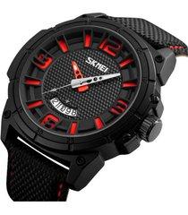reloj hombre skmei 9170 red deportivo