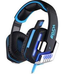 audífono diadema gamer g8200 vibración negro/azul