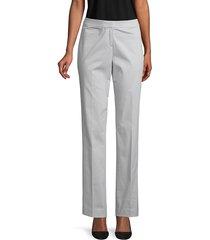 lafayette 148 new york women's barrow stretch trousers - black - size 0