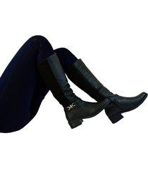 botas en ecocuero para mujer outfit sevilla negro