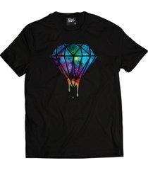 camiseta manga curta skull clothing diamante galax preto