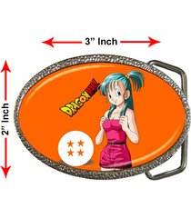 bulma dragon ball z characters son goku tv anime games steel chrome belt buckle