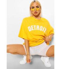 detroit applique oversized t-shirt, orange
