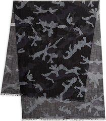 valentino garavani men's camo scarf - nero