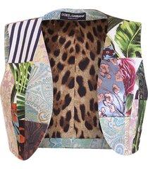 dolce & gabbana patchwork vest
