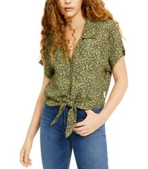 calvin klein jeans leopard-print shirt