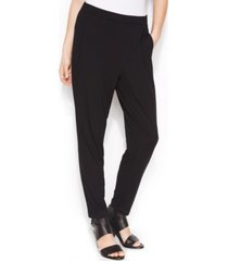 eileen fisher system stretch jersey pull-on slouchy ankle pants, regular & petite sizes
