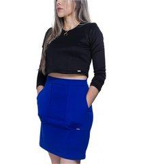 falda azul prizmma