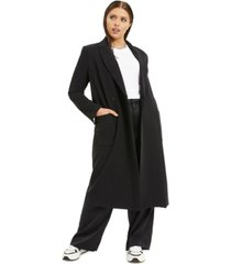 danielle bernstein plus size suiting long coat, created for macy's
