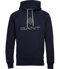 lock up hoodie hoodie trui blauw gant
