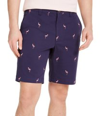 """club room men's flamingo graphic 9"""" shorts, created for macy's"""
