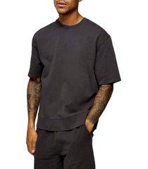 men's topman short sleeve french terry sweatshirt