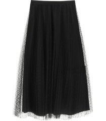red valentino pleated skirt in point desprit tulle