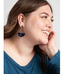 lane bryant women's resin split circle earrings onesz legion blue