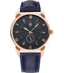 reloj hombres de cuarzo impermeable correa luminosa-negro
