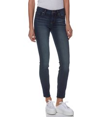 women's paige transcend - verdugo ankle skinny jeans, size 31 - blue