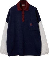 oversize polo-collar sweater