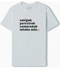 camiseta & && parceira camarada minha m e reserva - masculino