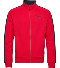 amr track fz sweat-shirt trui rood hackett