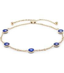 effy women's 14k yellow gold, lapis lazuli & diamond bracelet