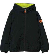 save the duck black waterproof teen jacket