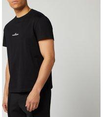 maison margiela men's centre logo t-shirt - black - it 52/xl