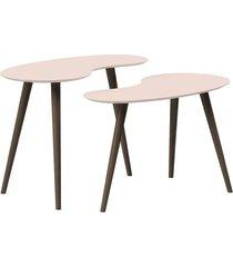 conjunto de mesa feijão pinoquio off-white