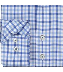 sleeve7 overhemd blauw oxford ruit