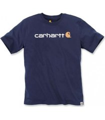 carhartt t-shirt men core logo s/s navy-m