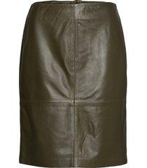 slfolly skirt knälång kjol grön soaked in luxury