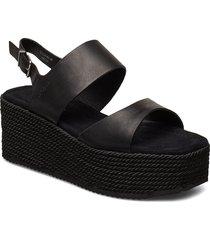 apple 4a sandalette med klack espadrilles svart marc o'polo footwear