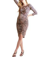 women's ingrid & isabel tulip hem maternity dress, size small - brown