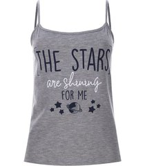 top the stars color gris, talla xs