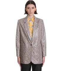 magda butrym ottawa blazer in animalier leather