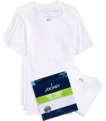 jockey men's tagless 3-pack crew neck t-shirts + 1 bonus shirt, created for macy's