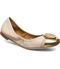 minnie cap-toe ballet ballerinaskor ballerinas beige tory burch