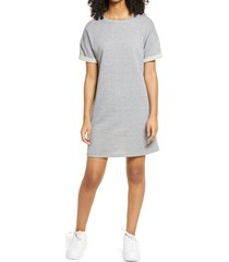 women's bp. french terry t-shirt dress, size x-large - grey