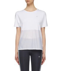 mesh panel performance t-shirt
