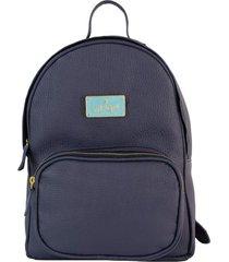 mochila de cuero azul merope becca