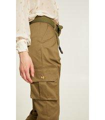 motivi pantaloni cargo con pieghe donna verde