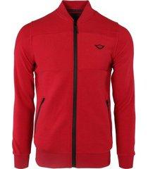 vest gabbiano denim red vest jacquard stof en waterafstotende ritsen