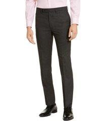 calvin klein men's slim-fit stretch mini-grid dress pants