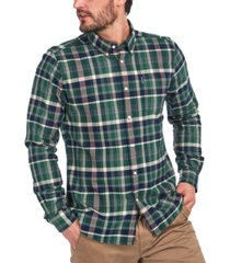 barbour men's classic-fit highland check twill shirt