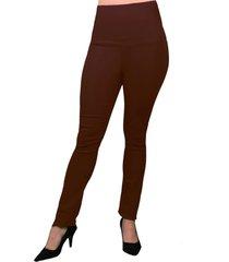 pantalon de vestir elástico con pretina reductora para mujer.