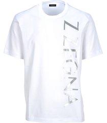 z-zegna z-zegna vertical logo print t-shirt