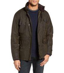 men's barbour sapper regular fit weatherproof waxed cotton jacket