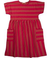 babe & tess pink / raspberry striped dress