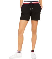 tommy hilfiger contrast-waist drawstring shorts